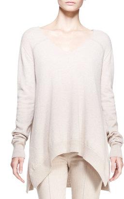 The Row Cashmere V-Neck Trapeze Sweater