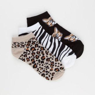 Full Tilt 3 Pack Womens No Show Socks
