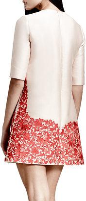 Stella McCartney Lace-Hem Shift Dress, Rose/Red