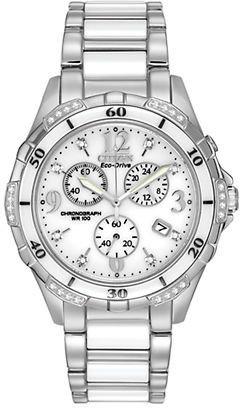 Citizen Ladies' Eco-Drive Ceramic Diamond Watch