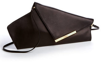 Badgley Mischka Alba Leather Clutch