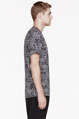 Paul Smith Black & Grey patterned t-shirt