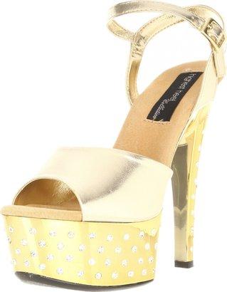 The Highest Heel Women's Dazzle-11-Gmet Platform Sandal