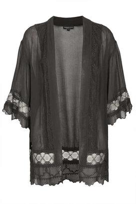 Topshop Petite lace detail kimono