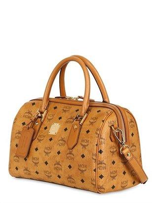 MCM Heritage Boston Medium Top Handle Bag