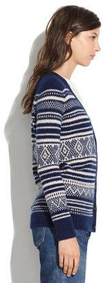 Madewell Stitchstripe Cardigan