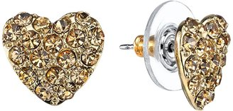 1928 Heart Stud Earrings