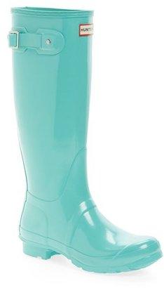 Hunter Original High Gloss Boot (Women) $150 thestylecure.com