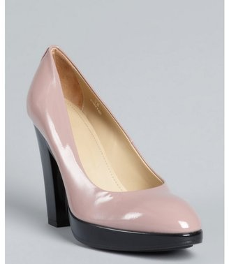 Hogan pink patent leather 'Tracy' pumps