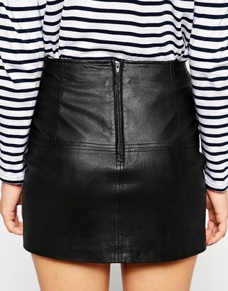 Asos Mini Skirt in Leather