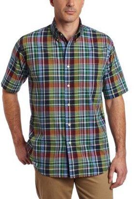 Arrow Men's Short Sleeve Plaid Madras, Summer Jade, 2X-Large