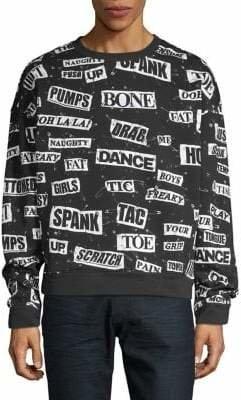 Moschino Patchwork Cotton Sweatshirt