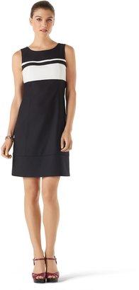 White House Black Market Perfect Form Colorblock Shift Dress