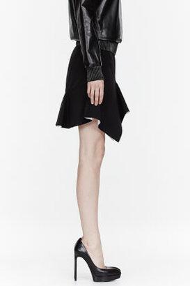 Givenchy Black Pleated Stretch Cady Skirt