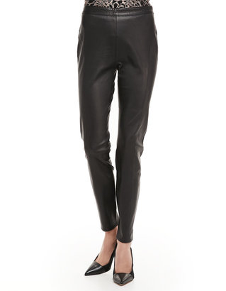 Ted Baker Slim Leather Ankle Pants