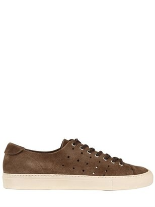 Buttero Perforated Suede Sneakers