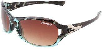 Tifosi Optics Deatm SL (Blue Tortoise/Brown Gradient Lens) Athletic Performance Sport Sunglasses