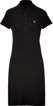 Lacoste Black Cotton Stretch Short Sleeve Polo Dress
