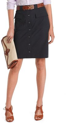 Brooks Brothers Cotton Button-Front Skirt