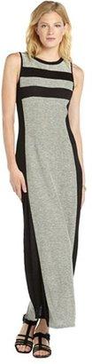 Romeo & Juliet Couture grey and black cotton blend stripe detail maxi dress