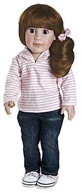 "JCPenney Adora Play Girl Doll, 18"" Abigail Ready for Fun – Brown Hair/Brown Eyes"