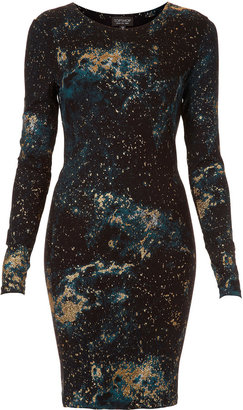 Topshop Glitter Space Bodycon Dress