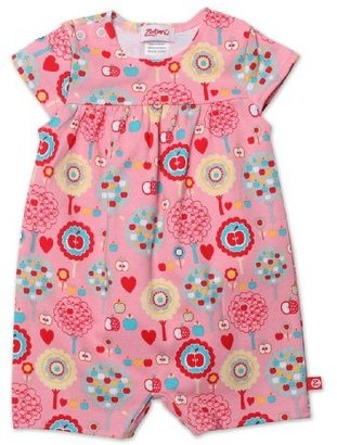 Zutano Baby-Girls Infant Apple Tree Cap Sleeve Bodysuit