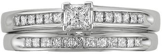 Diamond 0.5 CT.T.W. Bridal Set Ring in 14K White Gold - In Assorted Sizes