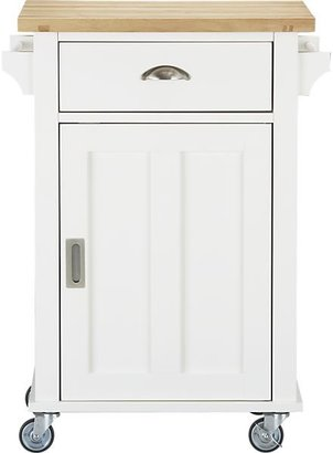 Crate & Barrel Belmont White Kitchen Cart