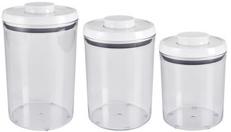 OXO 3 Piece POP Canister Set White
