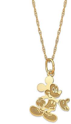Disney Children's Necklace, 14k Gold Mickey Mouse Pendant