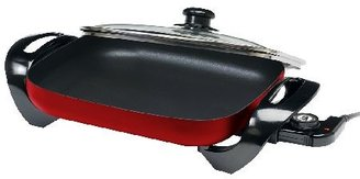 "Elite Gourmet 15"" x 12"" Electric Skillet with Glass Lid"