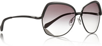 Oliver Peoples Sacha square-frame metal sunglasses