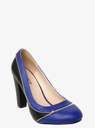 Torrid Colorblock Zipper Heels (Wide Width)
