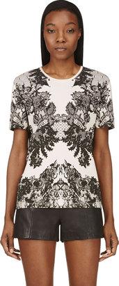 McQ Peach Lace Print T-Shirt