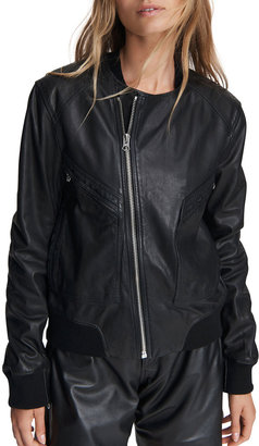 Rag & Bone Leather Flight Bomber Jacket