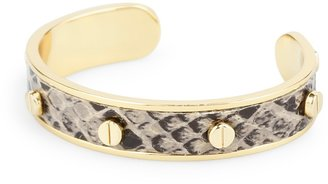 C. Wonder Screw Stud Snake Embossed Skinny Cuff