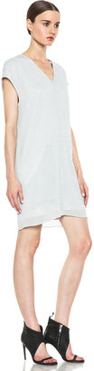 Helmut Lang Breeze Slouchy Pocket Dress in Newsprint