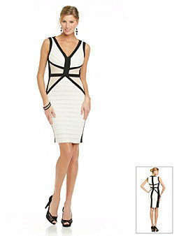 Jax Colorblock Banded Jersey Dress