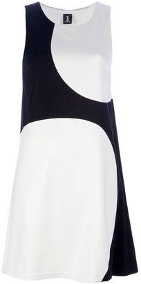 Sleeveless Two-Tone Dress