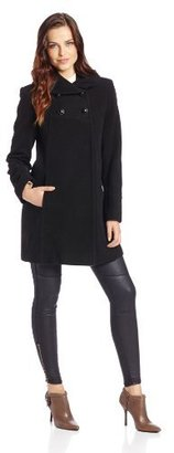 Larry Levine Women's Shawl Collar Double Breasted Empire Waist Coat