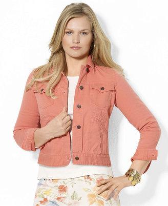 Lauren Ralph Lauren Plus Size Jacket, Denim Colored