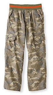 Camo Ruff Hewn Boys' 2T-7 Green Cargo Pants