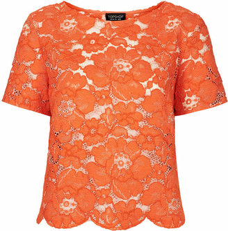 Topshop Flower lace tee
