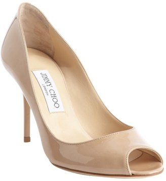 Jimmy Choo nude patent leather 'Evelyn' pumps