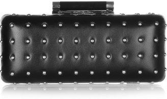 Diane von Furstenberg Tonda studded leather clutch