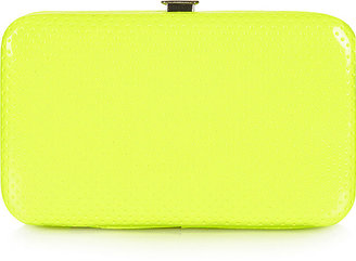 Topshop Neon Perforated Phone Purse