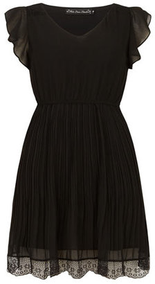 Dorothy Perkins Black lace pleated dress