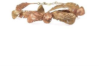 Giambattista Valli Couture Leaf detail metal waist belt