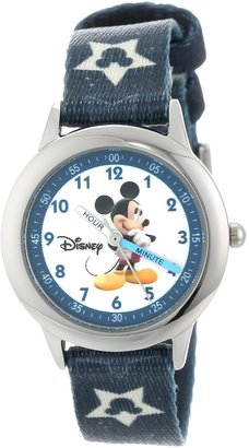 Disney Kids' W000015 Mickey Mouse Stainless Steel Time Teacher Watch